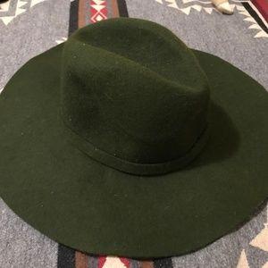 Anthropologie~ Green Wool Hat